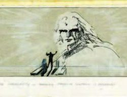 Two sets of storyboards with Jor-El – Superman I and II
