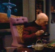 Captain Picard chairback tapestry from Star Trek TNG