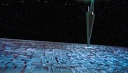 Death Star miniature section from Star Wars ROTJ