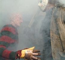 Jason costume with stunt machete from Freddy vs. Jason