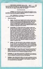 Robert Redford & Demi Moore Indecent Proposal contract