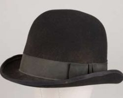 Black bowler hat worn by Kevin Costner in Wyatt Earp