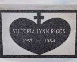 Victoria Lynn Riggs headstone from Lethal Weapon 1 & 3