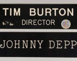 Johnny Depp & Tim Burton trailer signs Ed. Scissorhands