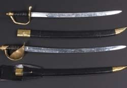 Pair of metal swords from Pirates of the Caribbean 3