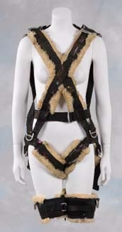 Julianne Moore painting harness from The Big Lebowski