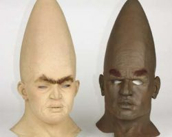 Conehead face mask appliances from Coneheads