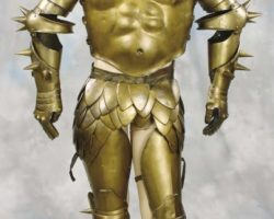 Mordreds golden armor from Excalibur