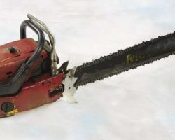 Special effects chainsaw from Poltergeist II
