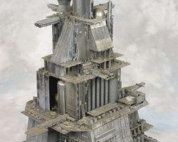 Miniature Nostromo refinery tower from Alien