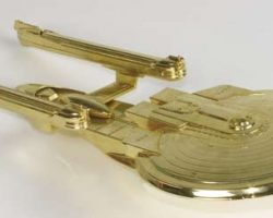 Gold-plated USS Enterprise-B model – First Contact