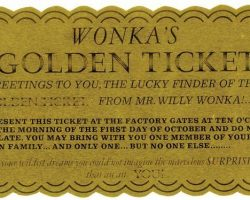 Golden Ticket from Willy Wonka & the Chocolate Factory