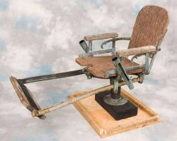 Fishermans fighting chair from Quints boat in Jaws
