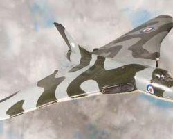 Vulcan bomber filming miniature from Thunderball