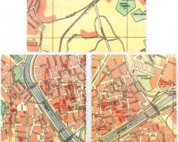 Three prop maps of Jewish ghettos – Schindlers List