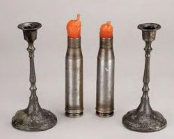 Two pairs of Shabbat candle holders – Schindlers List