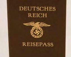 Oskar Schindlers German passport – Schindlers List