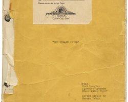 Rare original Wizard of Oz script