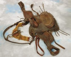 Cast member saddle from Gunsmoke