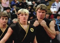 Cobra Kai gei and referee t-shirt from The Karate Kid
