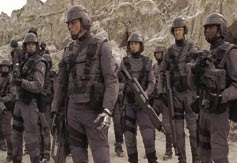 Complete trooper uniform and Morita – Starship Troopers