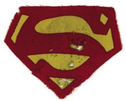 Original George Reeves Superman costume insignia