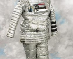 Russian spacesuit and backpack from 2010 with helmet