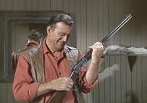 John Wayne prop Winchester loop rifle from El Dorado
