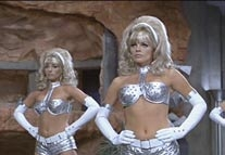 Silver Fembot costume from Austin Powers