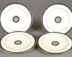 4 USS Enterprise plates from Star Trek VI