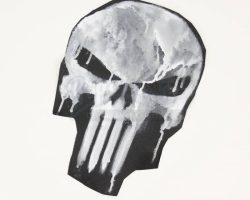The Punisher Original Handpainted Skull Test