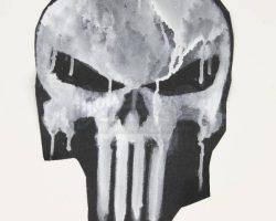 The Punisher Original Handpainted Skull Test