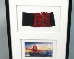Framed Spider-man Costume Piece Left Mid Arm Red