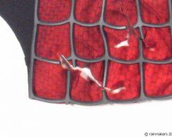 Framed Spider-man Costume Piece Left Shoulder Red