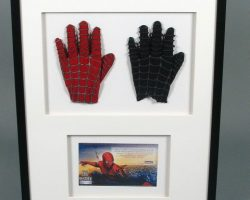 Framed Spider-man Costume Pieces Combo Left Glove