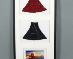 Framed Spider-man Costume Pieces Combo Upper Back