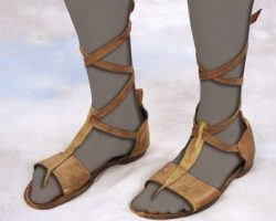 Charlton Heston leather sandals – The Ten Commandments