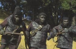 Background gorilla costume from Planet of the Apes