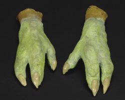 Yodas prosthetic hands from The Empire Strikes Back