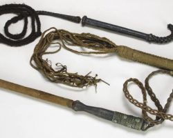Collection of Thuggie whips from Indiana Jones