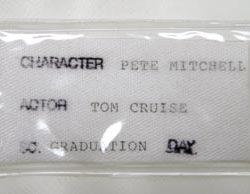 Tom Cruise Navy uniform hat from Top Gun