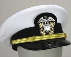 Tom Cruise Navy uniform hat from Top Gun