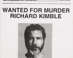 """Harrison Ford """"Wanted"""" police bulletin – The Fugitive"""
