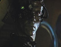 Borg head and body parts from Star Trek: First Contact