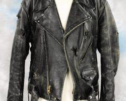 "Arnold Schwarzenegger hero ""Terminator"" leather jacket"