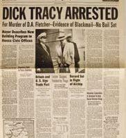 Warren Beatty hero trenchcoat and badge – Dick Tracy