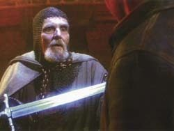 Grail knight movie prop sword from Indiana Jones Last Crusade