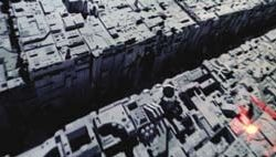 Death Star miniature movie prop surface section from Star Wars
