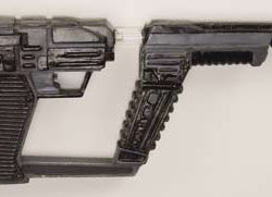Alien laser blaster and holster from V The Miniseries