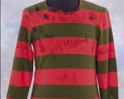 Freddy Krueger signature screen used sweater
